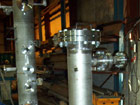 Coalescer Gas Filter on hydro - test during manufacture