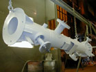 DN80 Inlet/Outlet Separator - Coalescer Filter during painting process.